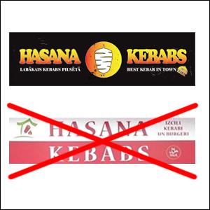 Opposition against trademark registration HASANA KEBABS (fig.) No. M 75 580